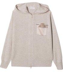 brunello cucinelli teen sand sweatshirt