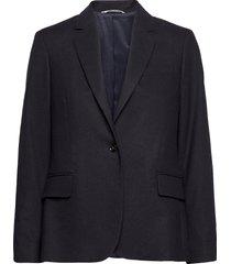 d1. flannel regular blazer blazers over d blazers blauw gant
