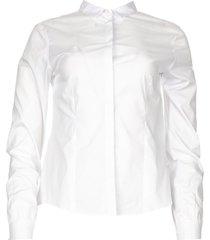 blouse met parelknopen pearl  wit