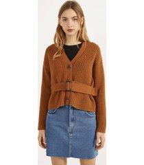 tricot vest met riem