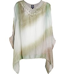 tie-dyed silk poncho top