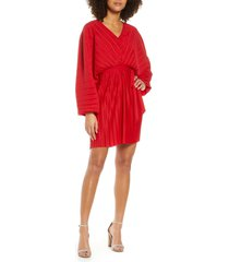 women's french connection long sleeve crinkle pleat cocktail dress
