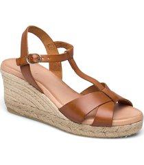 biadena sandal sandalette med klack espadrilles brun bianco