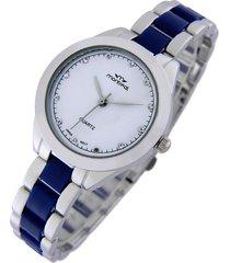 reloj  azul montreal pulsera combinado