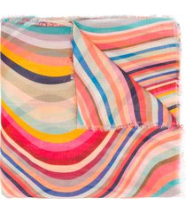 paul smith swirl print scarf - pink
