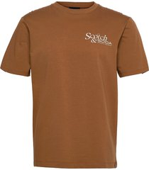 sophisticated artwork tee t-shirts short-sleeved brun scotch & soda
