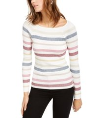 inc striped pullover sweater, created for macy's
