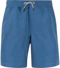 brunello cucinelli drawstring swim shorts - blue