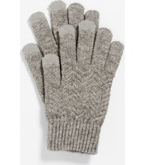 maurices womens gray finger tech knit gloves
