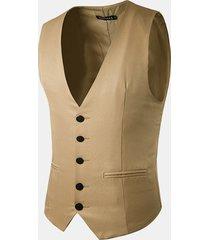 casual formale affari slim fit modo di colore puro del vestito della maglia per gli uomini