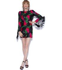 sukienka mini cekinowa z chwostami