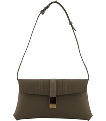 agnona logo plaque shoulder bag arm grey