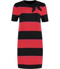 nikkie multicolor jurk jolien stripe bow