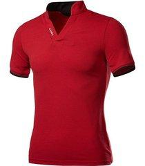 collarla manera v-cuello corto camiseta