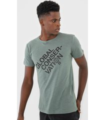 camiseta osklen global consevation verde - verde - masculino - algodã£o - dafiti