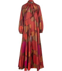 gianluca capannolo multicolored printed jumpsuit