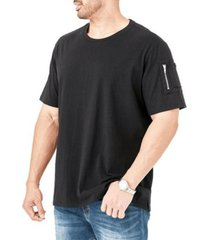 mvp collections by mo vaughn productions men's big and tall cargo zipper pocket t-shirt