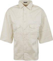 oversized short sleeve cowboy shirt