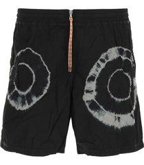 aries tie-dye nylon shorts
