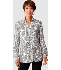 blouse paola wit::zwart