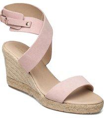 high heel espadrilles sandalette med klack espadrilles rosa ilse jacobsen