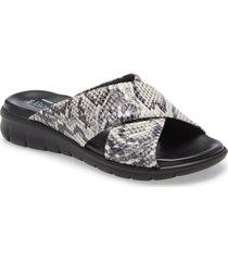women's bos. & co. rouge snake embossed slide sandal, size 5us - grey