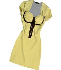 hafize ozbudak designer t-shirts & tops, pistachio & brown trim silk short sleeve tunic