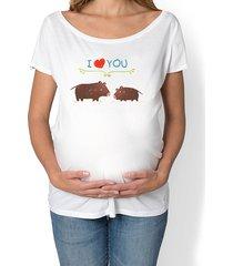 koszulka ciążowa. zwierzęta leśne, dziki