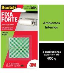 fita adesiva dupla face scotch 3m com espuma uso interno 25mmx25mm