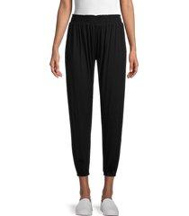 michael lauren women's smocked flowy pants - black - size m