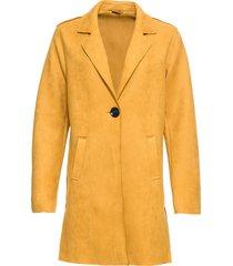 giaccone in similpelle scamosciata (giallo) - bodyflirt
