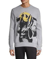 graphic long-sleeve sweatshirt