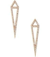 18kt rose gold dagger stud earrings