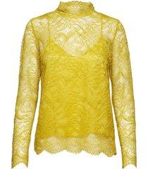 baldrina blouse blouse lange mouwen geel second female
