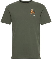 military box fit graphic tee t-shirts short-sleeved grön superdry