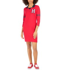 tommy hilfiger varsity-graphic t-shirt dress, created for macy's
