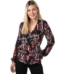 womens gyana long sleeve wrap top