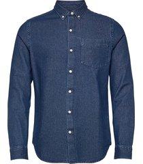 classic denim bd shirt overhemd casual blauw superdry