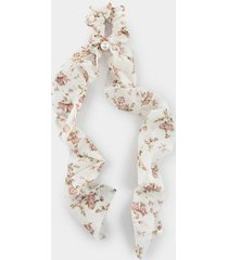 agnes floral pony scarf - ivory