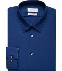 calvin klein navy extreme slim fit dress shirt
