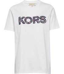 kors logo t-shirt t-shirts & tops short-sleeved vit michael kors