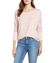 women's gibson x international women's day anna wide neck dolman sleeve sweatshirt, size large - pink