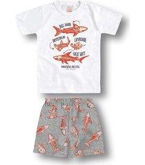 pijama marisol branco - branco - menino - dafiti