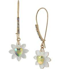 betsey johnson flower dangle earrings