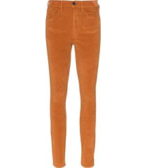 3x1 kaia high-rise corduroy slim-leg trousers - brown