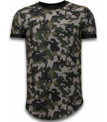 camouflaged t-shirt long fit army pattern