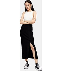 *ribbed knitted skirt by topshop boutique - black