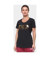 camiseta adidas foil graphic feminino