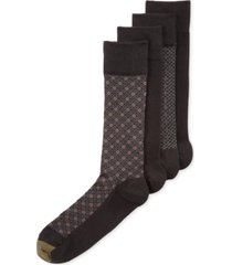gold toe men's classic mosaic socks 4-pack, created for macy's