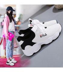 plataforma de mujer zapatillas deportivas caminar zapatilla de deporte